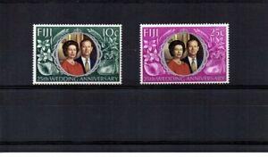 Fiji 1972 - Royal Silver Wedding - Set of 2 MNH SG 474/75