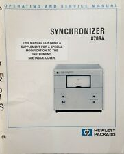 HP 8709A Synchronizer Operating & Service Manual P/N 08709-90004