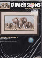 Dimensions Cross stitch kit Power of the Serengeti 35012 Out of Production Rare!