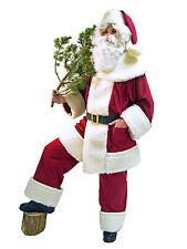 Weihnachtsmann Anzug weinrot mit Schäfchenplüsch Weihnachten Nikolaus Kostüm neu