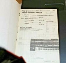 Original Roland Service Notes Manual Book JP-8 JU-6 RS-505 RS-09 SDE-1000