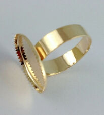 30 Rose gold plated Ring Base Blank Glue-on 12mm *20838