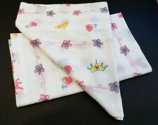 Disney Princess White Window Valance Shoes Crowns Flowers 84 X15 Set of 2