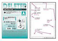Deleter Comic Book paper A4 135kg 40sheets Manga Anime drowing Set Japan