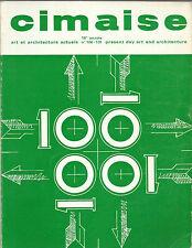 CIMAISE / ART ET ARCHITECTURE ACTUELS_janvier-fevrier-mars-avril 1971_N°100 -101