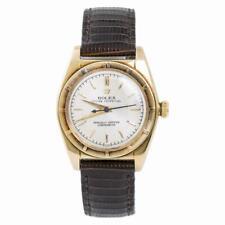 Rolex Bubble Back 5015 Unpolished Mens Automatic Vintage Watch 14K Gold 32mm