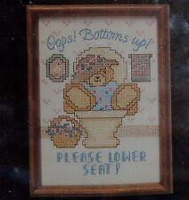 "Bottoms Up Bathroom Seat Cross Stitch Kit Dimensions 6549 New Sealed Vtg 5"" x 7"""