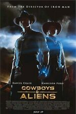 COWBOYS AND ALIENS ~ REGULAR ORIGINAL 27x40 MOVIE POSTER DAM Daniel Craig