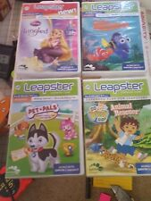 LeapPad Leapster 4 Games Cartridges - Nemo, Tangled, Animal Rescue, & Pet Pals