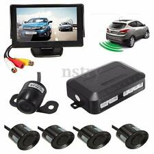 4 Parking Sensors Radar System Buzzer 4.3'' Car Rear View Monitor Reverse Camera