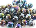 25 Glass Marbles MILKY WAY Purple/Gold Oil Slick Metallic Iridescent Shooter new