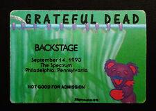 Grateful Dead Backstage Pass Philadelphia Spectrum 9/14/1993 Sexy Lady Bear