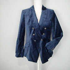 White House Black Market Velvet Trophy Jacket River Teal Blue Blazer 6p  jacket
