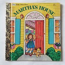 FIRST LITTLE GOLDEN BOOK MARTHA'S HOUSE NO WRITING NO NAME by EDITH KUNHARDT