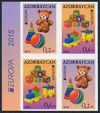 Aserbaidschan ungezähnt, Azerbaijan imperforated, Europa CEPT 2015, Zsdr. **