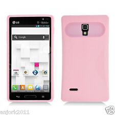 LG Optimus L9 T-Mobile P769 Hybrid Case Skin Glow in Dark Cover Pink
