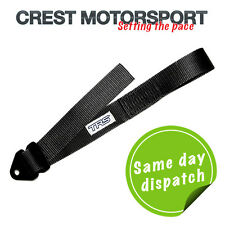 TRS Adjustable Tow Eye Strap/Loop BLACK (MSA Compliant) Race/Rally/Competition
