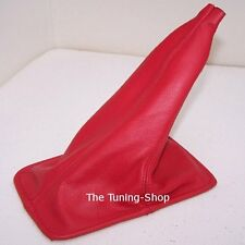 FOR TOYOTA CELICA 1994-1998 GEAR LEVER GAITER RED GENUINE LEATHER SHIFT BOOT NEW