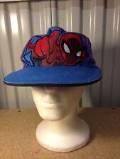 Marvel Kids Spiderman SnapBack Hat Cap Ball Baseball Web Slinger Blue Avengers