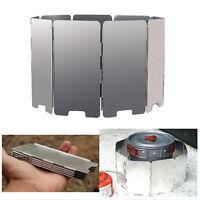 9 Platten Aluminium Windschutz Faltbarer  Kochstellen Campingkocher BBQ Rucksack