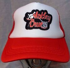 motley crue trucker hat mesh cap snapback gift for dad metal rock tommy lee skul