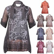 Scoop Neck 3/4 Sleeve Casual Floral Tops & Shirts for Women