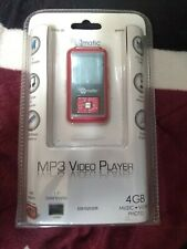 Ematic MP3 Video Player with FM Tuner/Recorder & Voice Recorder 4GB NIP Red