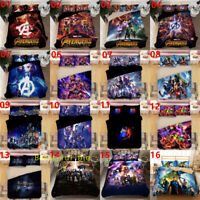 The Avengers Single/Double/Queen/King Bed Quilt/Doona/Duvet Cover Set Pillowcase