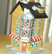 "Holiday ""Expressions"" Toy Shop Village Ceramic House Carefully Store"