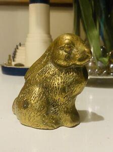 Vintage Solid Brass Rabbit Figurine
