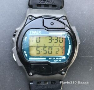 1997 TIMEX Stealth 744 E8 Indiglo 100M Water Resistant 40mm watch - New Battery