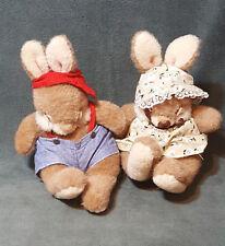 "Creative Concepts Non Non Friends Bunny Rabbits Sleeping Plush Stuffed Toys 7"""