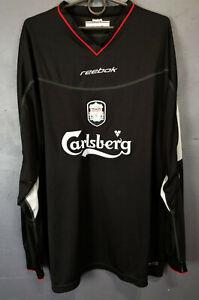 REEBOK FC LIVERPOOL 2002/2003 LONG SLEEVE SOCCER FOOTBALL SHIRT JERSEY SIZE XL