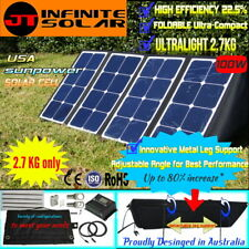 Portable 12V 100W FOLDING SOLAR PANEL KIT MONO CAMPING CARAVAN*USA CELL