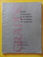 revue Graphê n° 141 1956 Techniques de l'Imprimerie Typographie