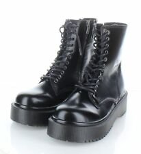 A14 NEW $130 Women's Size 9.5 M Jeffrey Campbell Sopas Leather Combat Boots