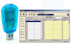 1X USB Cellphone Standard SIM Card Reader Copy Cloner Writer SMS Backup GSM/CDMA