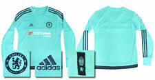 2015 2016 BNWT CHELSEA HOME GOALKEEPERS ADIDAS SHIRT KID'S SIZE = 11-12 YEARS