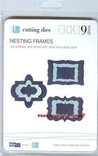 "Quickutz Lifestyle Crafts NESTING FRAMES 9 Dies 1.75"" x 1.15"" to 3.5"" x 3.25"""