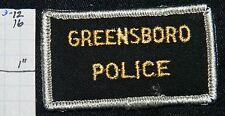 "NORTH CAROLINA, GREENSBORO POLICE DEPT SMALL 1.5""X 2.5"" PATCH"