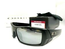 Oakley Gascan POLARIZED Matte Black / Black Iridium Sunglasses 12-856 - NEW
