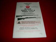 Ruger 77/22 77/44 Instruction Manual