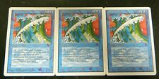 Vintage MTG Unlimited (3) Wall Of Water Blue Uncommon Cards LP-Excellent