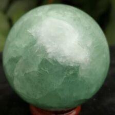300g  Natural Colourful Green Jade Sphere Quartz Crystal Ball Healing