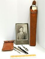 Vintage Drafting Tools Drafting Rulers Magnifying Glass Original Photo of Owner