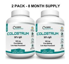 Colostrum 30% IgG Lactoferrin, Immune Support, Increase Muscle Mass (2 Pack)