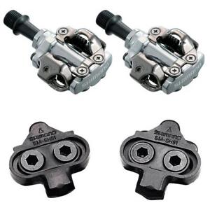 """Shimano SPD Pedals PD M540 Silver 9/16"""" Mountain Bike with Cleats"""