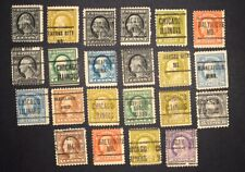 US Used Pre-Cancelled Lot - Unsorted Washington Franklins - 22 Stamps!