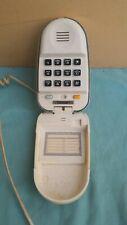 TELEFONO A CONCHIGLIA marca TAISTAR colore BIANCO CON TASTIERA ANNI '90 VINTAGE