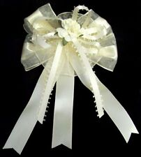 US Hand-Made Girls Hairbows - Beige/Ivory Color Wholesale 12 Pc Lot  (E00501BB#)